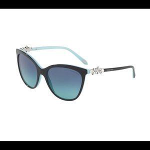 Authentic Tiffany Cat Eye Jeweled Sunglasses